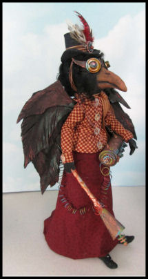 Witch and Steampunk Crow Dolls - CD Class by Susan Barmore