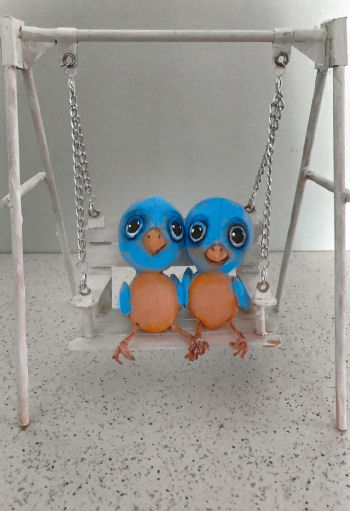 Birds in a Swing Cloth Doll Project by Susan Barmore