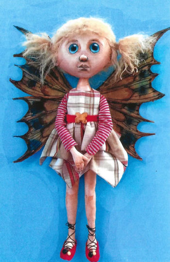 "PATTERN /""ROXIE/"" BY SUSAN BARMORE PAPER *NEW* FOLK ART DOLL"
