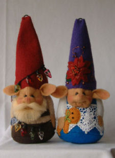 A Gnome for All Seasons CLoth Doll Pattern by Shelley Hawkey