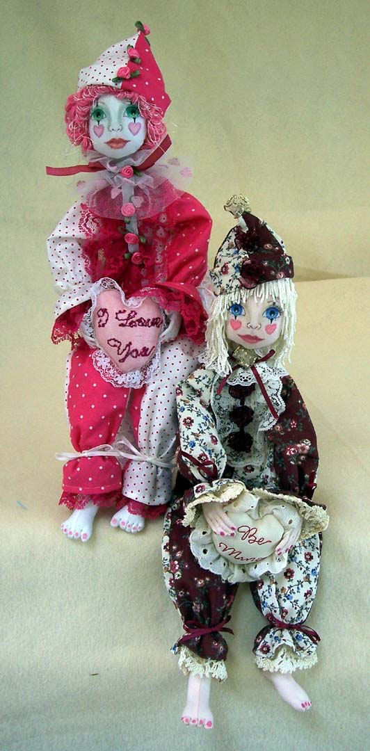 "*NEW* CLOTH ART DOLL PAPER PATTERN /""AMBER/"" BY SYLVIA SCHORR"