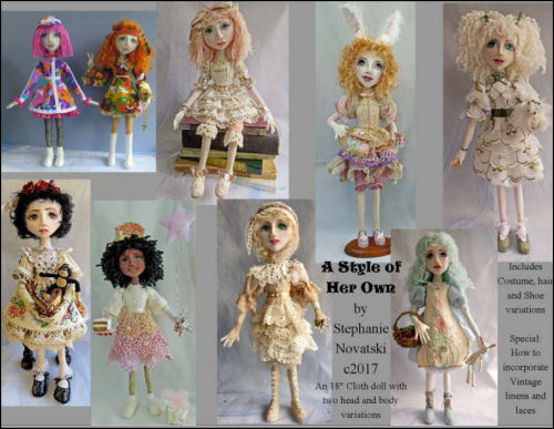 "A Style of Her Own - CD - Cloth Doll Making Pattern for 18"" Doll"