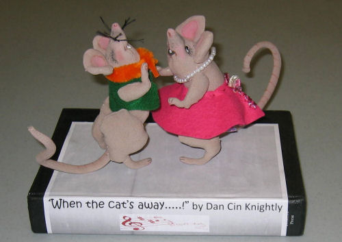 "Standing at 5"" tall cloth rat pattern by Sharon Mitchell"