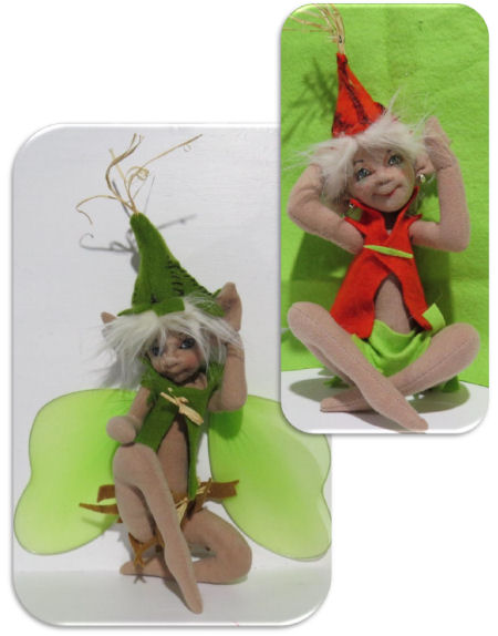 "9"" pixie/elf/fairy doll sewing pattern by Sharon Mitchell"