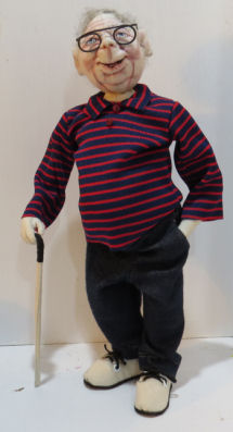 Baby Boomer Brian Cloth Doll Pattern by Sharon Mitchell