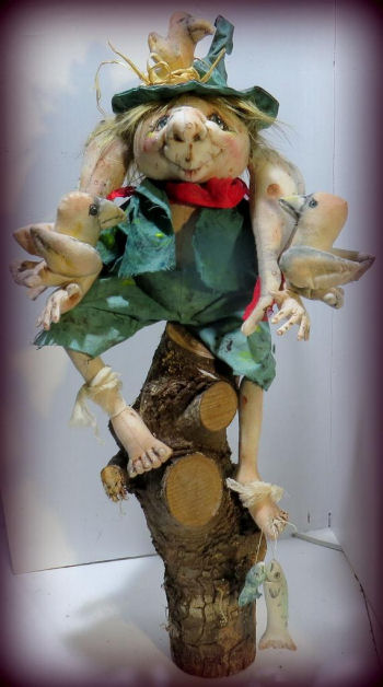 "Woodsy A 16"" Delightful Woodland Creature Pattern Cloth Doll Making by Sharon Mitchell"