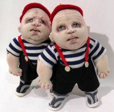 Tweedledee and Tweedledum - New Cloth Doll Pattern