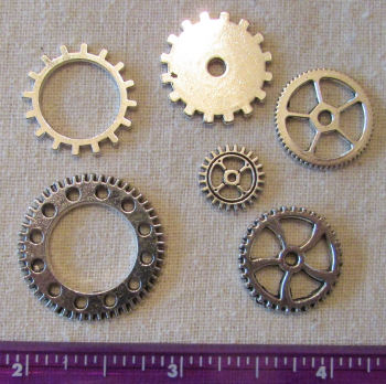 Silver Combo - 6  Doll Making Steampunk Gears