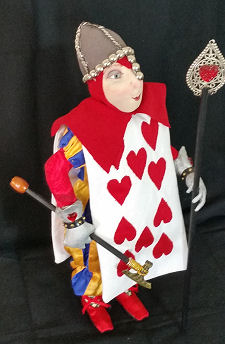 Queen's Card Guard.  New Pattern by Suzette Rugolo