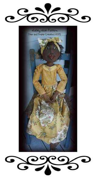"Lovely 48"" figure with painted and needlesculpted features and wired hands."