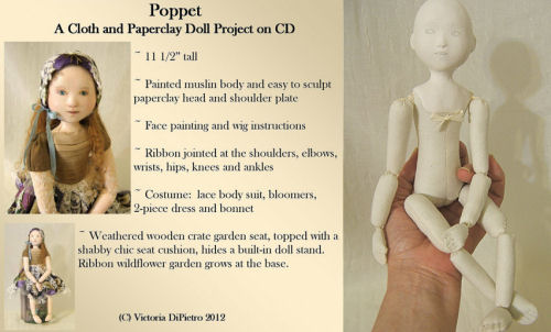 "Poppet CD This 11-1/2"" beauty is the perfect starter project for those who want to try paperclay."