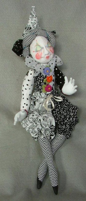 "12"" Jester Doll Cloth Doll Making Sewing Pattern"