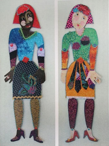 Fabric Paper Doll - Cloth Doll Making Sewing Pattern by Virgina Robertson