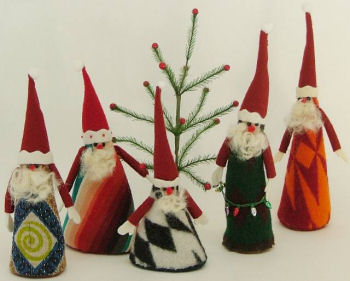 Recycle Santas - Cloth Doll Making Sewing Pattern by Virgina Robertson