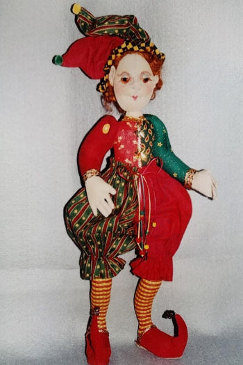 Ernie, The Elf  - Cloth Doll Making Sewing Pattern by Virgina Robertson