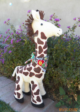 "Gallagher  22"" of soft terrycloth and felt fun! What child wouldn't love this huggable giraffe!"