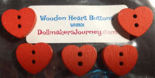 Wooden Heart Buttons New!