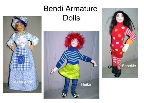 Free Cloth Doll Pattern - Project by Kate Erbach - Bendi Armature Dolls