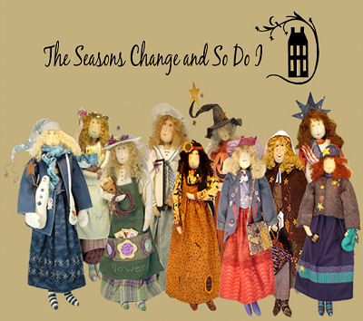 The Seasons Change and So Do I - Cloth Doll Pattern