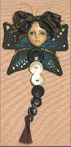 Button Butterfly Doll