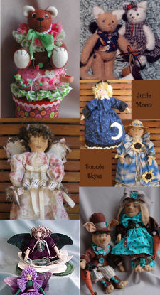 Angel, Rabbits, Kittens, Topsy-Turvy Doll, Bear Pincushion and Butterfly Patterns by Billie Heisler