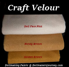 Craft Velour Dollmaking Fabric