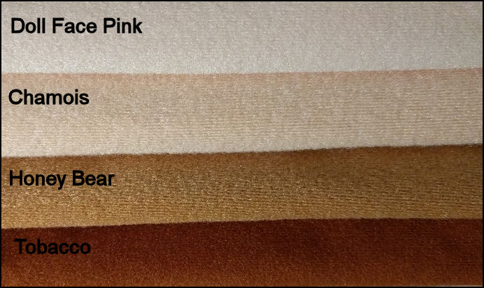 Craft Velour Doll Skin and Doll Making Fabric - Great for  Doll Bodies. - Chamois and Doll Face Pink