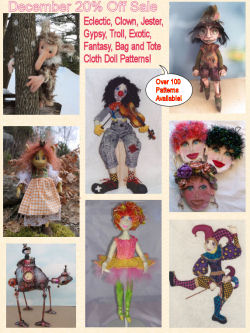 December Cloth Doll Pattern Sale
