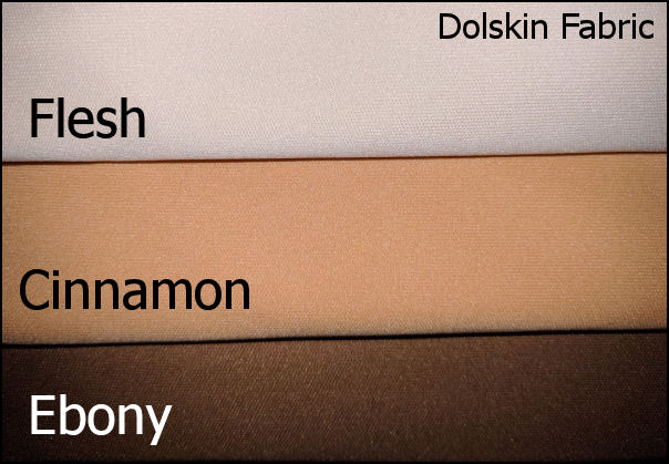 Dolskin- Original Fabric from... James Thompson & Co Inc , Doll Skin and Body Fabric, Flesh, Ebony Cinnamon