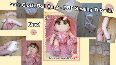 "Wildflower, 18"" Cloth Art Doll Sewing PDF DOwnload Tutorial"