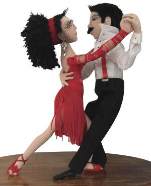 "Norma Inkster  - ""It Takes 2..."" Cloth Tango Doll E-Pattern"