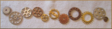 Steampunk Gears for Art Doll Projects