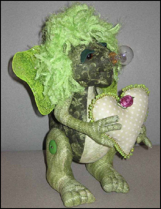 Hug-o-saurus - Free Project by Kate Erbach - Cloth Doll