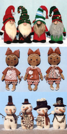 Holiday Cloth Doll Patterns