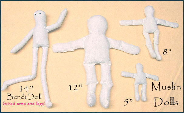 Muslin Dolls - Natural - Pre-Made