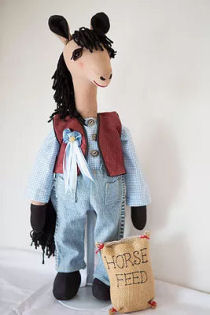 Wyatt the Horse Cloth Doll Pattern by Rebecca McGovern