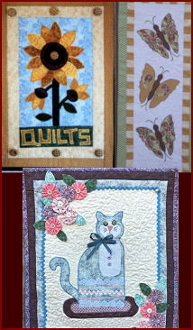 Quilted and Applique Wall Hanging Patterns!