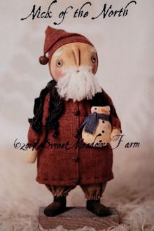 Nick of the North Primitive Santa - Cloth Doll Making Sewing Pattern