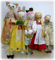 Cloth Art Doll Making Sewing Projects, Patterns, Booklet and CDs by Leslie Molen