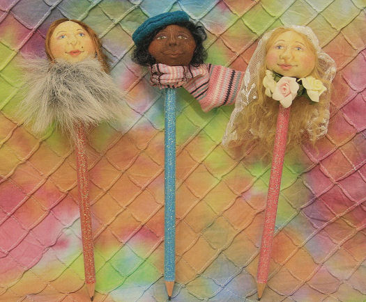 Cloth Doll Pencil Toppers