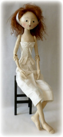 Queen Anne Style Jointed Cloth Doll
