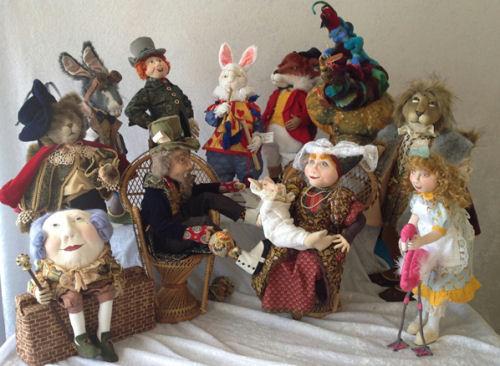 "ALICE IN WONDERLAND~SUZETTE RUGOLO cloth doll pattern 35cm FROG FOOTMAN~14/"""