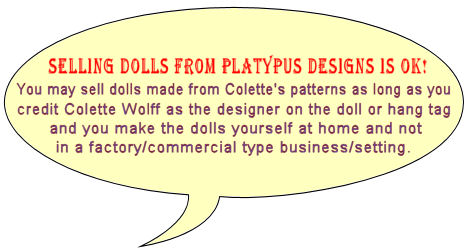 Selling dolls OK.  Cloht Doll Patterns