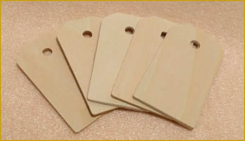 Wooden Hang Tags