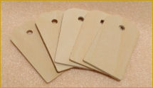Wooden Hang Tags for Dolls